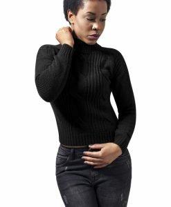 Pulover tip helanca cu maneca lunga pentru Femei negru Urban Classics - Pulovere si cardigane - Urban Classics>Femei>Pulovere si cardigane