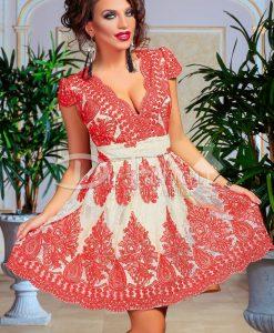 Rochie Majestuos Red - ROCHII - Rochii de Ocazie