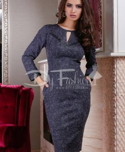 Rochie Office Lady Dark Blue - ROCHII - Rochii Office