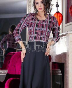 Rochie Pink Looking Lines - ROCHII - Rochii Office