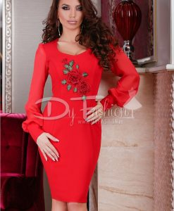 Rochie Red Rose Effect - ROCHII - Rochii Office