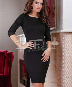 Rochie Simple Black Jerse - ROCHII - Rochii Office