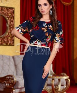Rochie Tradition Dark Blue - ROCHII - Rochii Office