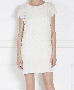Rochie alba cu aplicatii flori 3D Crem - Imbracaminte - Imbracaminte / Rochii de zi