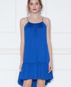Rochie albastra asimetrica cu volan Albastru - Imbracaminte - Imbracaminte / Rochii de seara