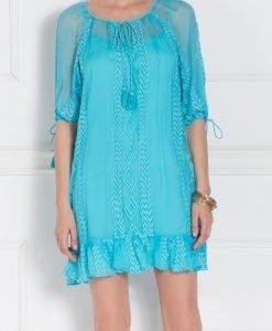 Rochie albastra cu broderie Albastru - Imbracaminte - Imbracaminte / Rochii de zi