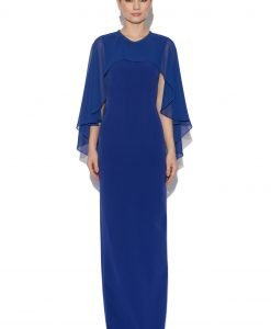 Rochie albastra cu capa Albastru - Imbracaminte - Imbracaminte / Rochii de seara