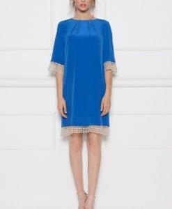 Rochie albastra cu detalii din dantela Albastru - Imbracaminte - Imbracaminte / Rochii de seara