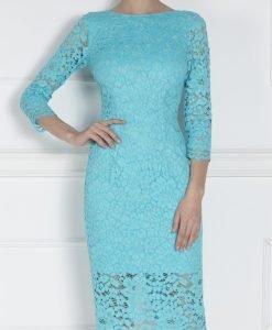 Rochie albastra midi din dantela Albastru - Imbracaminte - Imbracaminte / Rochii de seara