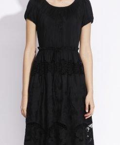 Rochie ampla realizata din tesatura cu matase brodata Negru - Imbracaminte - Imbracaminte / Rochii de zi