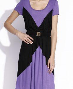 Rochie ampla realizata din tricot Mov/Negru - Imbracaminte - Imbracaminte / Rochii de zi