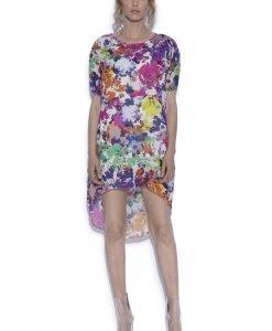 Rochie asimetrica cu imprimeu floral Imprimeu Flori - Imbracaminte - Imbracaminte / Rochii de zi