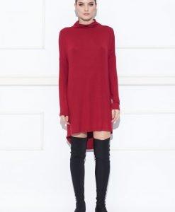 Rochie asimetrica cu maneci lungi Bordo - Imbracaminte - Imbracaminte / Rochii de zi