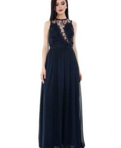 Rochie bleumarin eleganta DR2882 - Rochii de seara -