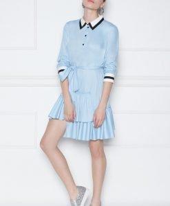 Rochie camasa mini asimetrica Albastru - Imbracaminte - Imbracaminte / Rochii de zi
