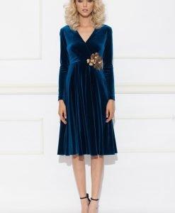 Rochie clos din catifea albastra cu paiete Albastru - Imbracaminte - Imbracaminte / Rochii de seara