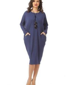 Rochie conica albastra R095-A - Rochii de zi -