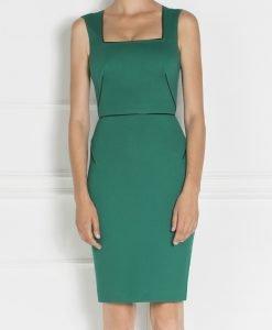 Rochie conica cu decolteu patra Verde - Imbracaminte - Imbracaminte / Rochii de zi