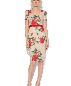 Rochie conica cu print floral IMPRIMAT - Imbracaminte - Imbracaminte / Rochii de zi
