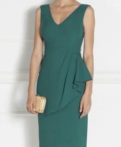 Rochie conica din stofa comfortabila Verde - Imbracaminte - Imbracaminte / Rochii de seara