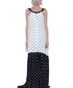 Rochie cu buline alb-negru Buline negre - Imbracaminte - Imbracaminte / Rochii de seara