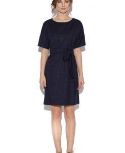 Rochie cu cordon in talie Bleumarin - Imbracaminte - Imbracaminte / Rochii de zi