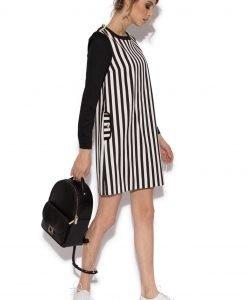 Rochie cu dungi contrastante Dungi - Imbracaminte - Imbracaminte / Rochii de zi
