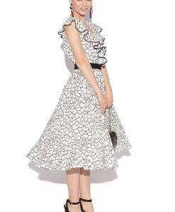 Rochie cu imprimeu alb-negru Imprimeu - Imbracaminte - Imbracaminte / Rochii de zi