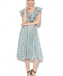 Rochie cu imprimeu albastru Imprimeu - Imbracaminte - Imbracaminte / Rochii de zi