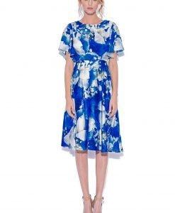 Rochie cu imprimeu floral albastru Imprimeu - Imbracaminte - Imbracaminte / Rochii de zi