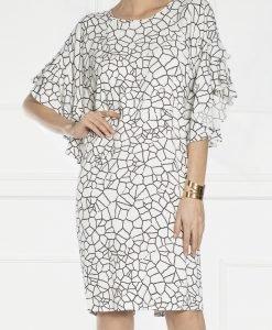 Rochie cu print geometric Imprimat/Crem - Imbracaminte - Imbracaminte / Rochii de zi
