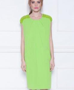 Rochie de cocktail cu insertie din dantela Verde - Imbracaminte - Imbracaminte / Rochii de seara