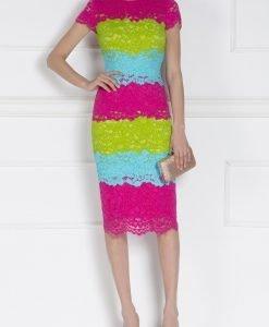Rochie de cocktail din dantela Multicolor - Imbracaminte - Imbracaminte / Rochii de seara