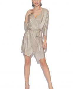 Rochie de seara argintie cu cordon Argintiu - Imbracaminte - Imbracaminte / Rochii de seara