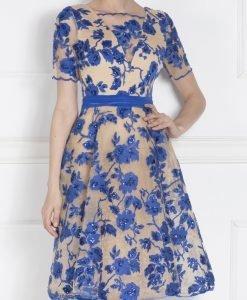 Rochie de seara cu bust din dantela Albastru - Imbracaminte - Imbracaminte / Rochii de seara