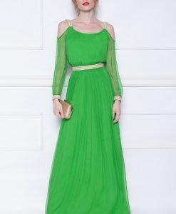 Rochie de seara cu detalii aurii Verde - Imbracaminte - Imbracaminte / Rochii de seara