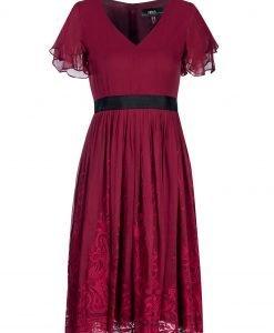Rochie de seara cu detalii din dantela Bordo - Imbracaminte - Imbracaminte / Rochii de seara