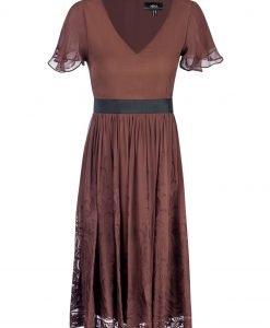 Rochie de seara cu detalii din dantela Maro - Imbracaminte - Imbracaminte / Rochii de seara