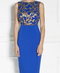 Rochie de seara cu detalii din paiete Albastru - Imbracaminte - Imbracaminte / Rochii de seara