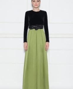 Rochie de seara cu detaliu in talie Verde - Imbracaminte - Imbracaminte / Rochii de seara