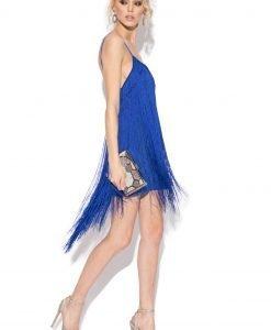Rochie de seara cu franjuri Albastru electric - Imbracaminte - Imbracaminte / Rochii de seara