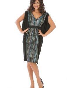 Rochie de seara cu imprimeu R007S negru - Rochii de seara -