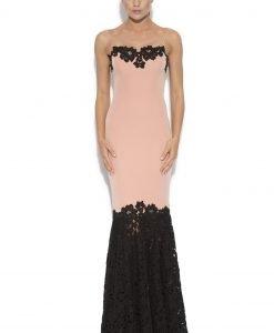 Rochie de seara cu insertii din dantela Roz - Imbracaminte - Imbracaminte / Rochii de seara