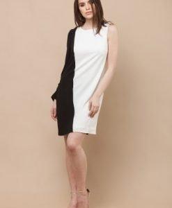 Rochie de seara cu o maneca RUSILO alb - Rochii de seara -