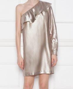 Rochie de seara cu reflexe metalice Bej - Imbracaminte - Imbracaminte / Rochii de seara