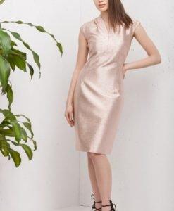 Rochie de seara mulata roz metalic PREMIA - Rochii de seara -