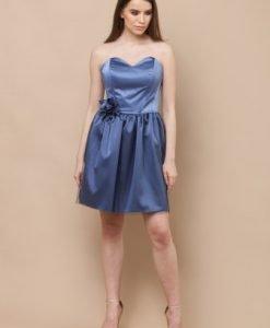 Rochie de seara scurta CF426 albastru - Rochii de seara -