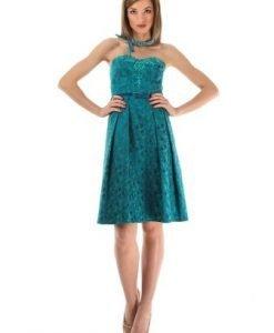 Rochie de seara turcoaz cu corset 2034S - Rochii de seara -