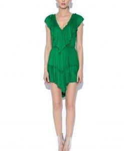 Rochie de zi asimetrica Verde - Imbracaminte - Imbracaminte / Rochii de zi