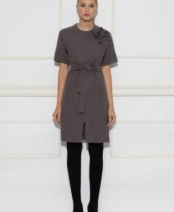 Rochie de zi cu cordon in talie Gri - Imbracaminte - Imbracaminte / Rochii de zi